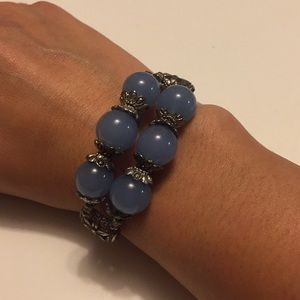 Jewelry - Light blue bracelet with silver details